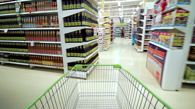 shopping in supermaket - groceries stock videos & royalty-free footage