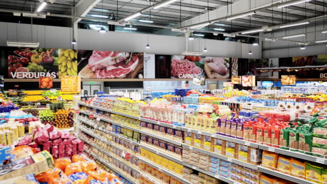 shopping in supermarket in latin america - choice stock videos & royalty-free footage