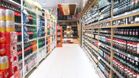 shopping in supermarket - shelf stock videos & royalty-free footage
