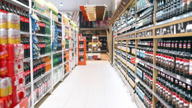 shopping in supermarket - beer alcohol stock videos & royalty-free footage
