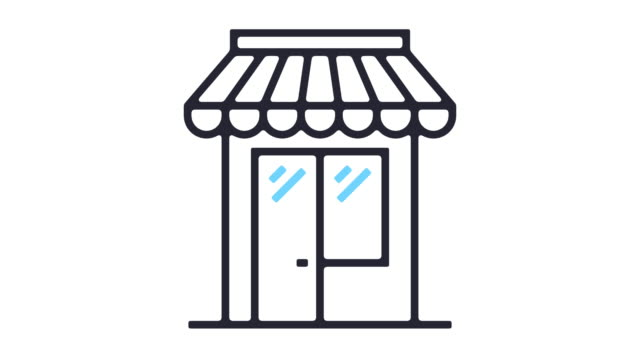 Shopping Line Icon Animation