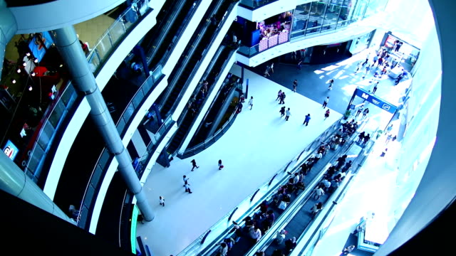 shopping mall escalator - tradeshow stock videos & royalty-free footage