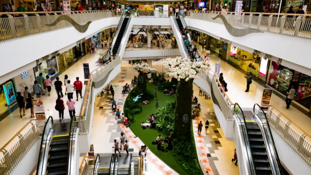 shopping mall escalator,time lapse - trade show stock videos and b-roll footage