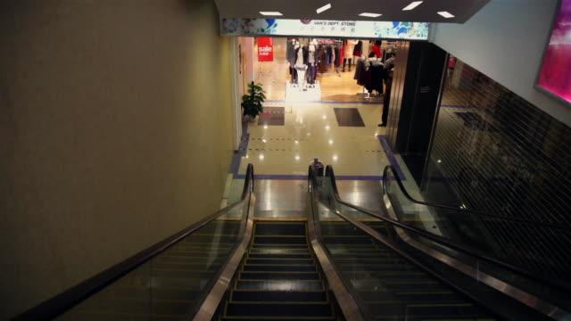 MS POV Shopping mall interior / xi'an, shaanxi, china