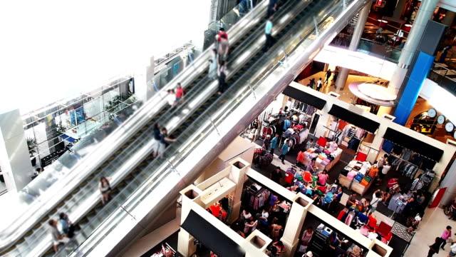 Shopping Mall Long Escalator
