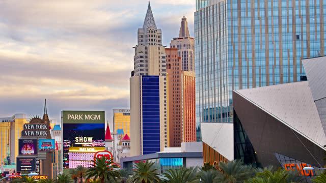 shopping mall. new york hotel. las vegas - editorial stock videos & royalty-free footage
