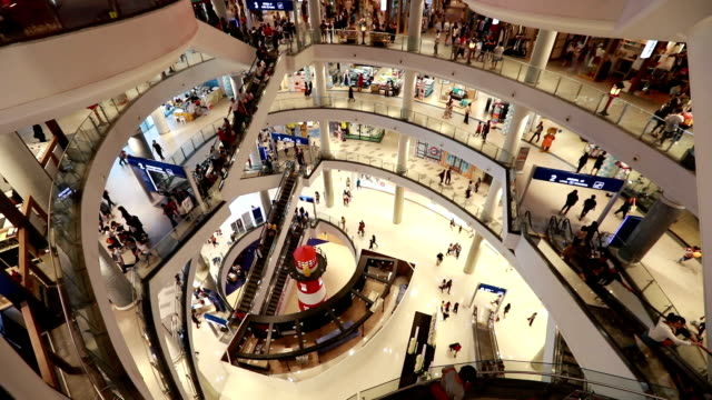 shopping mall, slow motion - shopping centre stock videos & royalty-free footage