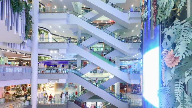 Shopping Mall urban city life ,4K Time lapse