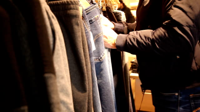 shopping man in clothing store - 2014 stock videos & royalty-free footage