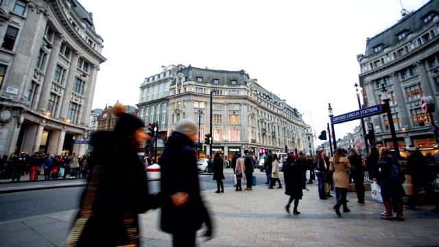 Negozi di Oxford street, a Londra, in Inghilterra