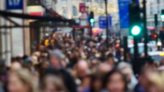 Shoppen op Oxford street, London, time-lapse