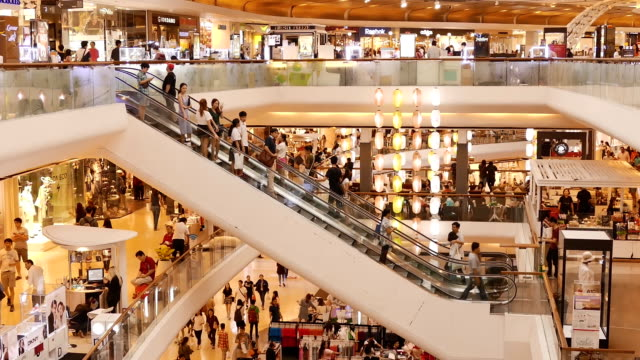 shopping people - shopping mall stock videos & royalty-free footage
