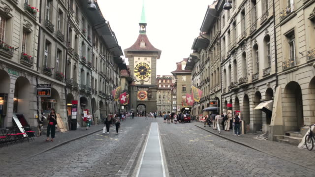 Shopping Street at Bern City in Switzerland