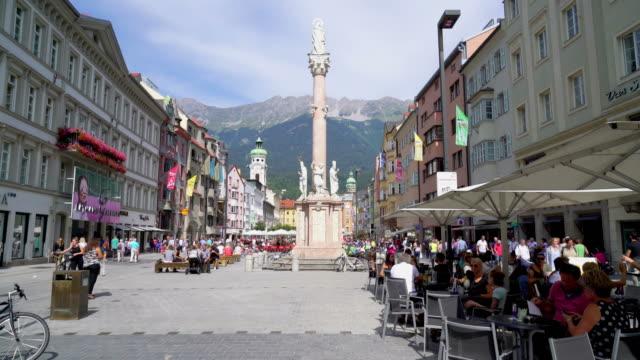 Einkaufsstraße in Innsbruck Stadt in Österreich