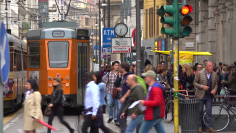 shopping street in milan - italy stock videos & royalty-free footage