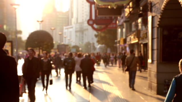 shopping street in shanghai - shanghai stock videos & royalty-free footage