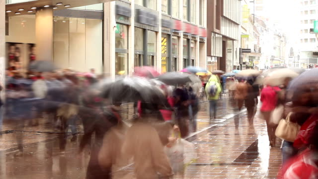 shopping street - time lapse - moving past stock videos & royalty-free footage