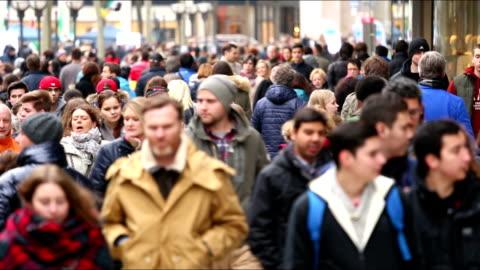 shopping street - pedestrian zone stock videos & royalty-free footage