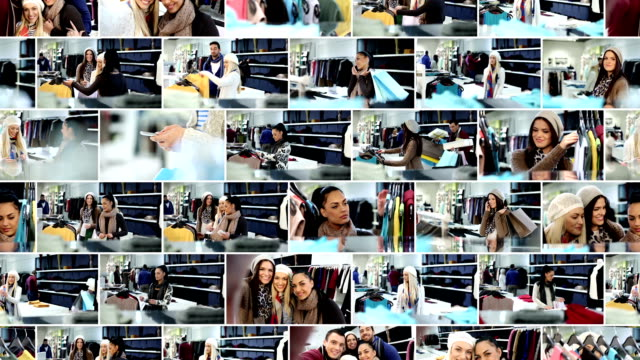 Shopping. Video Wall.