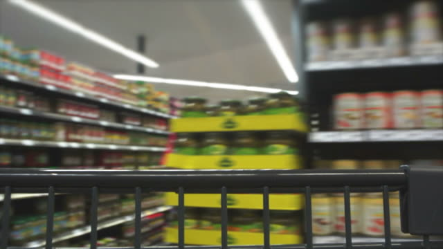 pov shopping with cart time lapse - shopping trolley stock videos and b-roll footage