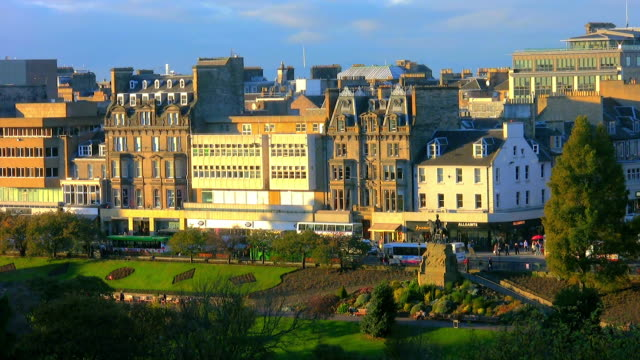 Shops and gardens in Princes Street.