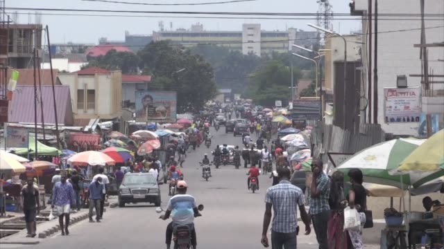 shops and petrol stations reopen for business in the capital of democratic republic of congo but residents are keeping children from school after two... - democratic republic of the congo stock videos & royalty-free footage