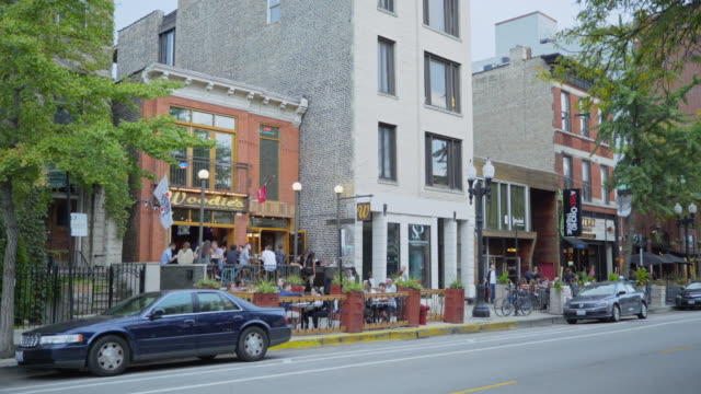 shops and restaurants in old town - establishing shot stock videos & royalty-free footage