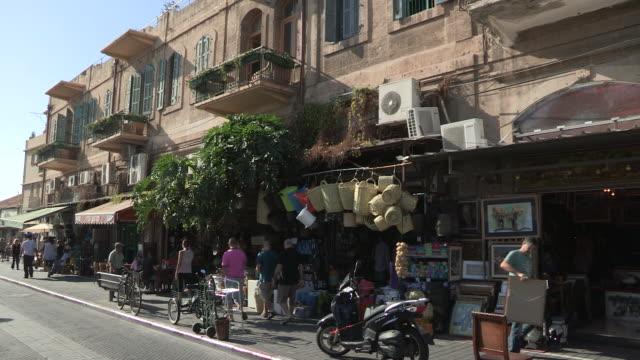 shops and shoppers, jaffa, israel - jaffa stock videos & royalty-free footage