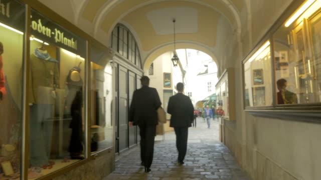 shops near michaelerplatz . - the hofburg complex stock videos & royalty-free footage