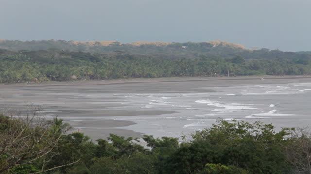 Shoreline on a Costa Rican beach