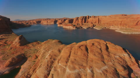 aerial shores of lake powell, usa - lake powell stock videos & royalty-free footage
