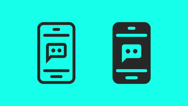 sms short message service - vector animate - notifications stock videos & royalty-free footage