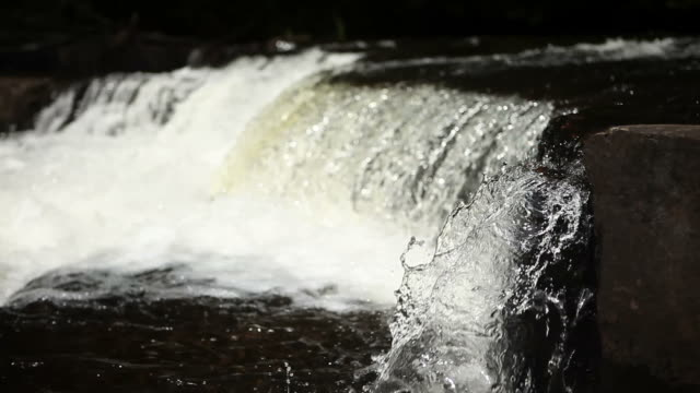 Short Waterfall Feeding into Lake Quiet Lake in Canada