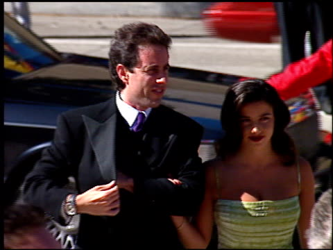 vídeos de stock, filmes e b-roll de shoshanna lonstein at the 1996 emmy awards arrivals at the pasadena civic auditorium in pasadena, california on september 8, 1996. - shoshanna