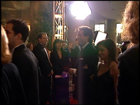 vídeos de stock, filmes e b-roll de shoshanna lonstein at the 1996 golden globe awards at the beverly hilton in beverly hills, california on january 21, 1996. - shoshanna