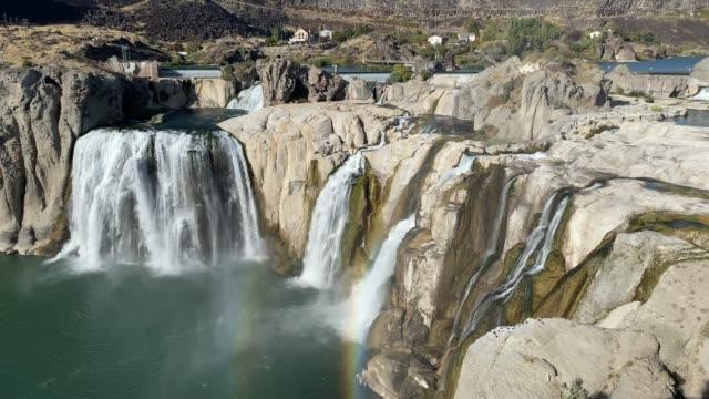 shoshone falls, twin falls, idaho - river snake stock videos & royalty-free footage
