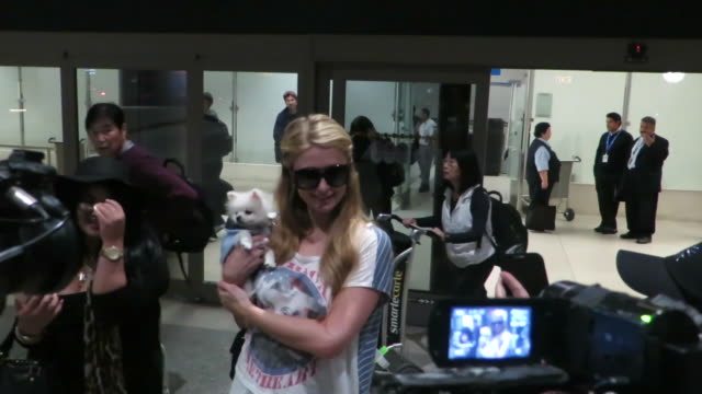 vidéos et rushes de shot at los angeles international airport. - célébrité