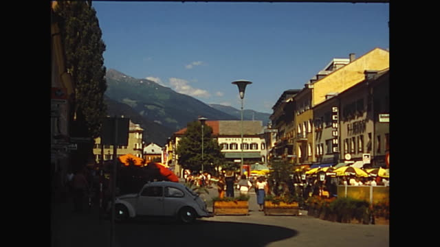 vidéos et rushes de shot between 1975 and 1985, 4 shots in the city of lienz - austria