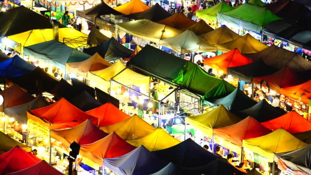 5 shot camera:night market - taiwan stock videos & royalty-free footage