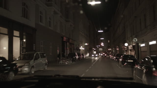 pov shot from a car pulling up to a red traffic light in vienna, austria. - ウィーン点の映像素材/bロール
