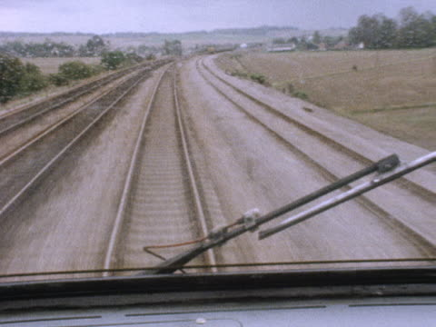 shot from the drivers cabin of an intercity 125 train. - railway track stock videos & royalty-free footage