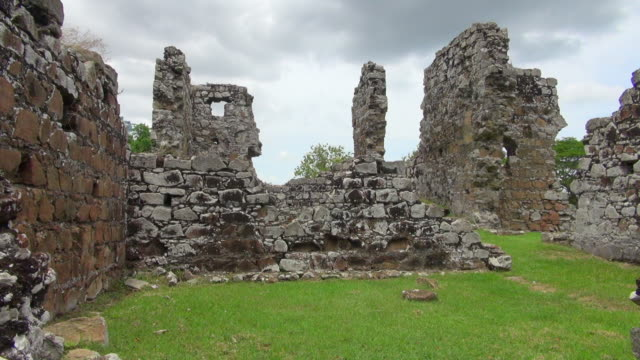 shot from the inside of panama city ruins - imperfection stock videos & royalty-free footage