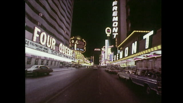 pov shot moving along the famous las vegas strip - las vegas stock videos & royalty-free footage