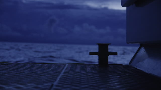 A shot of a boats tie off point