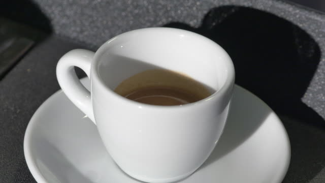 Shot of a cup of espresso