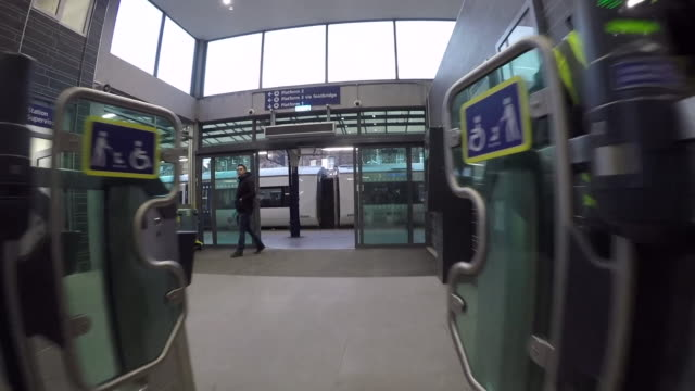 pov shot of a disabled passenger boarding a train - wheelchair stock videos & royalty-free footage