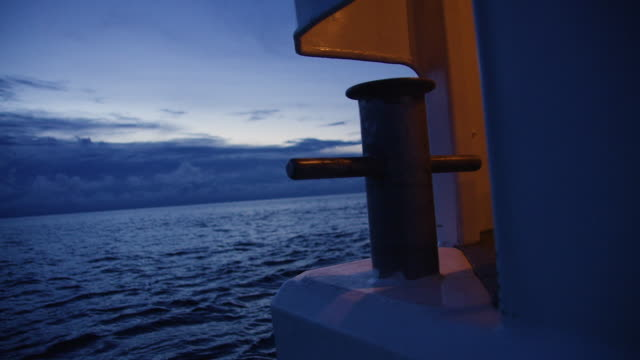 A shot of a dock's anchor