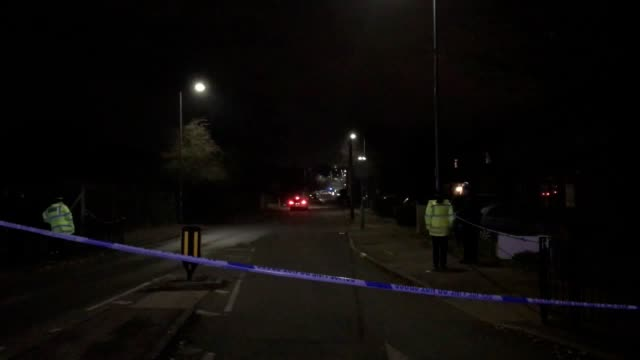 shot of a police cordon in willingale road in loughton, as a 51-year-old man is been arrested on suspicion of murder after a 12-year-old boy was... - boys stock videos & royalty-free footage