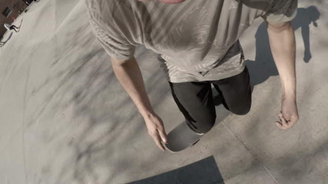 POV shot of a skateboarder riding through a Brooklyn Skatepark - 4k