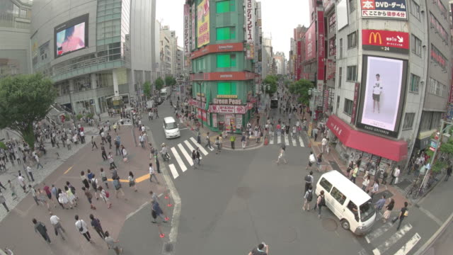WS, Shot of a square front of the southeast exit of Shinjuku station.